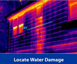 Locate water damages in new home constructions